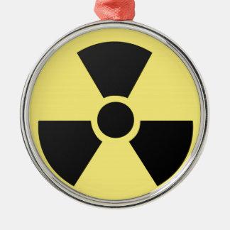 Radioactive symbol metal ornament