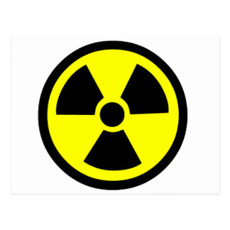 Radioactive Symbol Postcard
