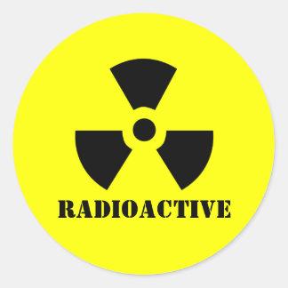 RADIOACTIVE Symbol Warning Label Halloween Props Classic Round Sticker