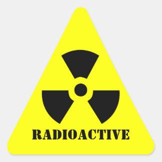 RADIOACTIVE Symbol Warning Label Halloween Props Triangle Sticker