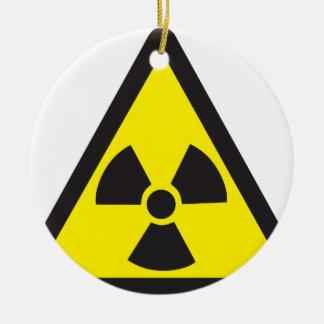 Radioactive Symbol Warning Triangle Ceramic Ornament