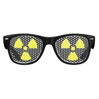 Radioactive Symbols Silly Halloween Dress Up Kids Sunglasses