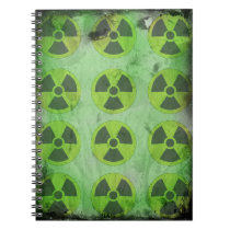 """Radioactive Thoughts Notebook, lined 6.5"""" x 8.75"""" Notebook"""