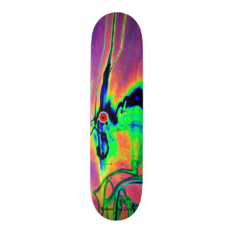 Radioactive time traveling rabbit from outer space skateboard deck