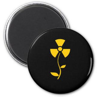 Radioactive to flower Yellow design Magnet