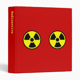 Radioactive Two 3 Ring Binder