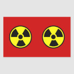 Radioactive Two Rectangle Sticker