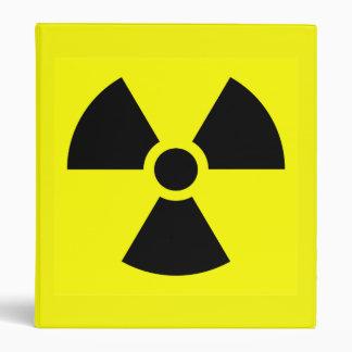 Radioactive warning 3-Ring binder