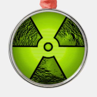 radioactive warning metal ornament