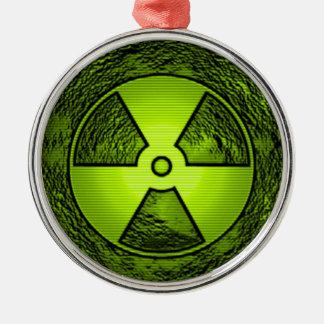 radioactive warning christmas ornament