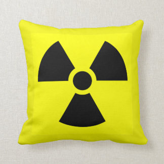 Radioactive warning pillow