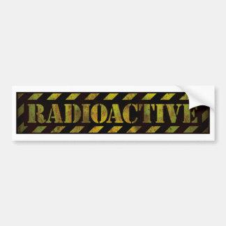 Radioactive Warning Sign - Bumper Sticker Car Bumper Sticker