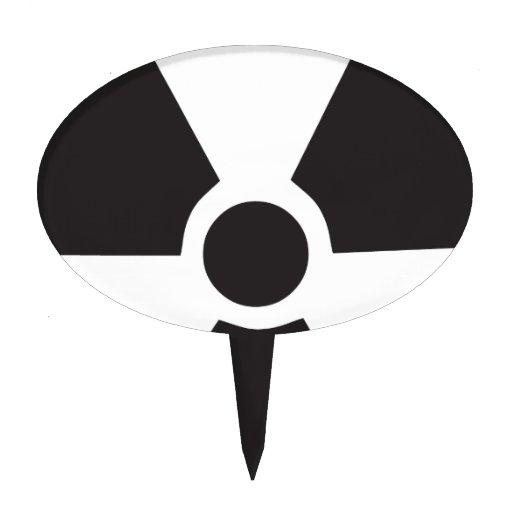 radioactive warning sign cake pick