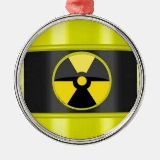radioactive warning sign metal ornament