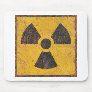 Radioactive Warning Sign Mouse Pad
