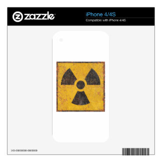 Radioactive Warning Sign Decals For iPhone 4