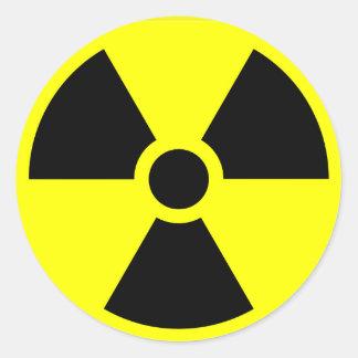 Radioactive warning stickers