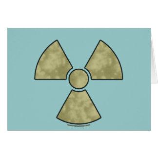 Radioactive Warning Symbol Card