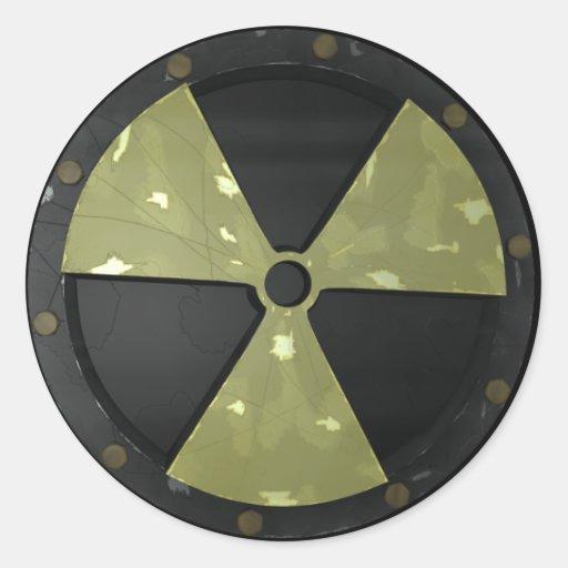 Radioactive Warning Symbol Classic Round Sticker