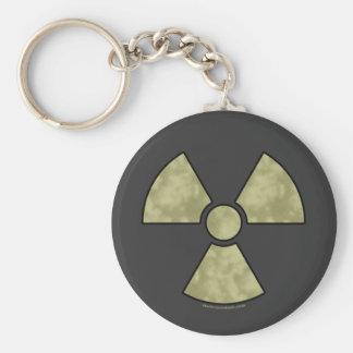 Radioactive Warning Symbol Keychain