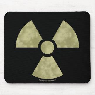Radioactive Warning Symbol Mouse Pad