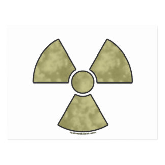 Radioactive Warning Symbol Postcard