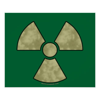 Radioactive Warning Symbol Poster