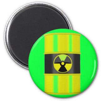 radioactive waste 2 inch round magnet