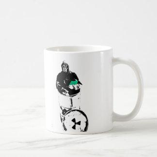 Radioactive Waste Barrel Gas Mask Man Coffee Mug
