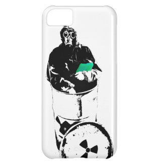 Radioactive Waste Barrel Gas Mask Man Cover For iPhone 5C