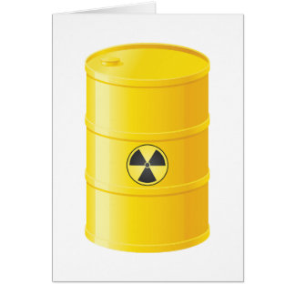 Radioactive Waste Note Cards