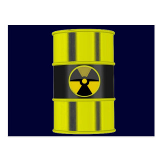 radioactive waste postcard