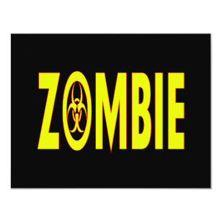 Radioactive Zombie Card