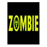 Radioactive Zombie Postcard