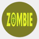 Radioactive Zombie Round Sticker