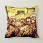 Radioactive Zombies Throw Pillow