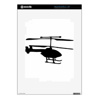 radiocommand helicopter iPad 2 decal