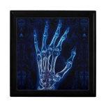Radiografía azul de la mano (caja de regalo de la