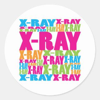 Radiografía colorida pegatinas redondas