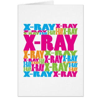 Radiografía colorida tarjeta