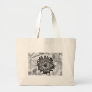 radiografía de la flor bolsa tela grande