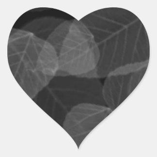 Radiografía de la hoja pegatina en forma de corazón