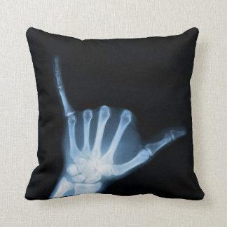 Radiografía de la muestra de Shaka (caída floja) Cojín Decorativo