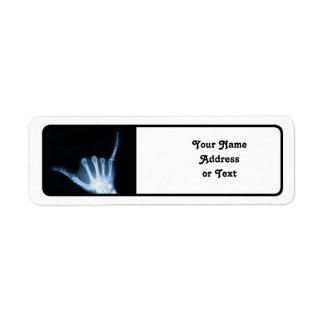 Radiografía de la muestra de Shaka (caída floja) Etiqueta De Remite