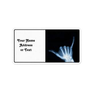 Radiografía de la muestra de Shaka (caída floja) Etiqueta De Dirección
