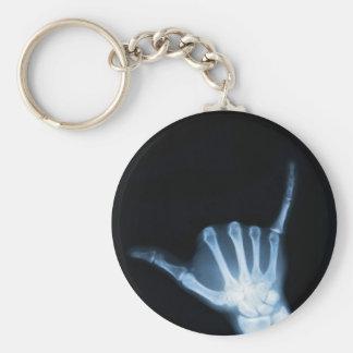 Radiografía de la muestra de Shaka (caída floja) Llavero Redondo Tipo Pin