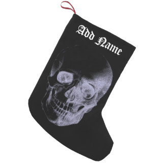 Radiografía del cráneo calcetín navideño pequeño