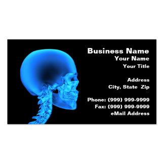 Radiografía del cráneo tarjetas de visita