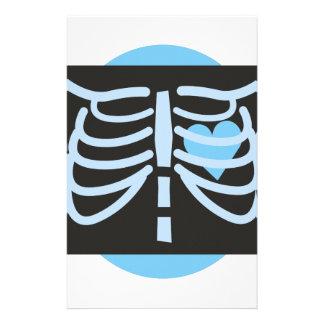 Radiografía del pecho personalized stationery