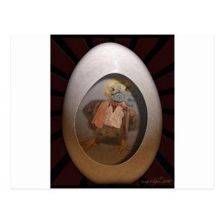 radiografía del polluelo del huevo tarjetas postales